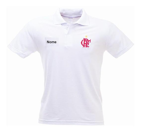 Camisa Polo Flamengo Bordada