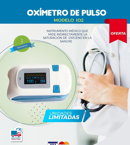 Oximetro De Pulso Envio Gratis A Todo Peru!!  1 Año Garantia