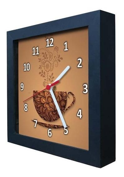 Relógio Decorativo Caixa Alta Tema Café - Qw006