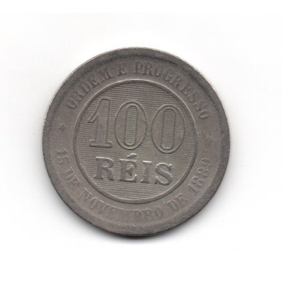 Moeda Cem 100 Réis Republica Estados Unidos Brasil 1984 Mbc