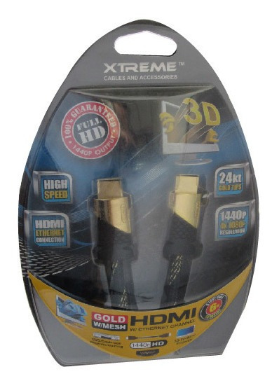 Cable Hdmi Gold Xtreme 1,8 Mts Super Resistentes Tienda