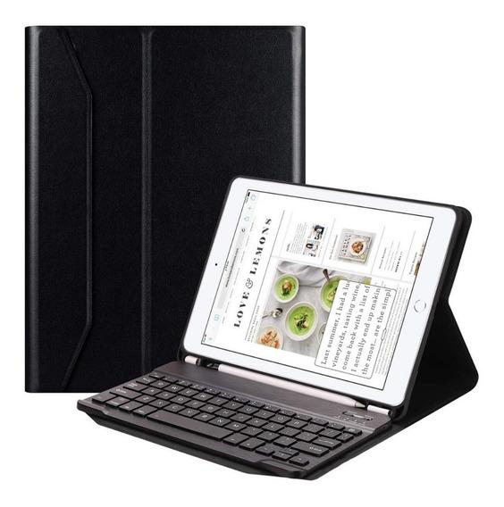 Capa Case C/teclado Bluetooth Íma Suporte Caneta iPad 6 New