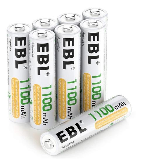 Ebl 8 Baterías Recargables Tipo Aaa 1100mah Ni-mh (1100*8)