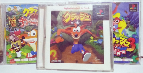 Lote Trilogia Crash Bandicoot Japonês Original Playstation