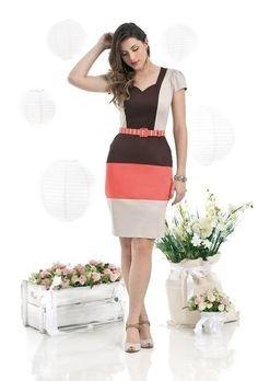 Vestido Moda Evangelica Elegante Com Cinto Cod#363
