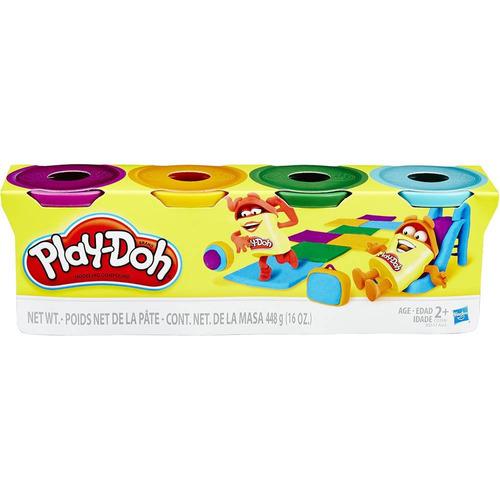 Brinquedo Hasbro Massinha Play Doh 4 Potes Sortidos B5517