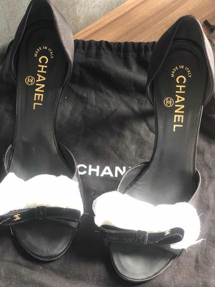 Sapato Chanel Original Usada