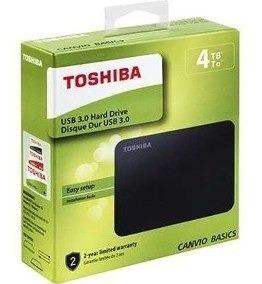 Disco Externo Toshiba 4 Tb 3.0 Sellado 1 Añogarantia Inc Iva