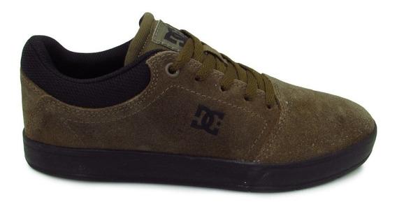 Tenis Dc Shoes Crisis Mx Adys100462 Olv Olive Verde Piel Gam