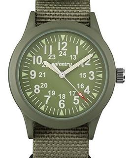 Reloj Infantry Para Hombre Us-in-083-g-n-01 Color Verde
