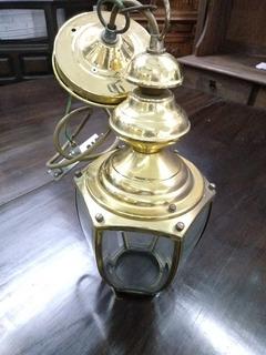 Lustre Luminária Década 70 Bronze E Vidro