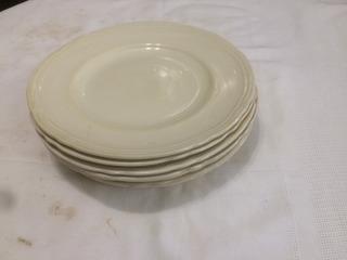 Vajilla Antigua Lote De 8 Platos Playos Porcelana Inglesa