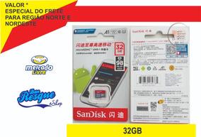 Cartão De Memória 32gb Sandisk Classe 10