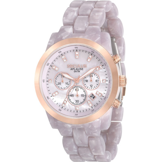 Relógio Seculus Feminino Aplause 20628lpsvrf2