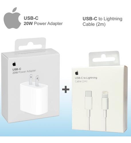 Cargador Apple 20w iPhone 12 Y 11 + Cable 2mt Original