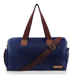 Bolsa De Viagem/academia Masculina Azul/marrom Jacki Design
