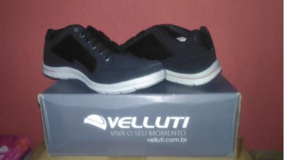 Sapatenis Velluti Preto/gelo 5302