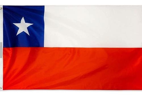 Imagen 1 de 5 de Bandera De Chile 150 Cm X 90 Cm