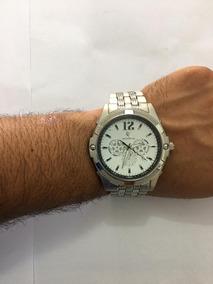 Relógio Masculino Aço Inoxidavel Barato Social Analogico