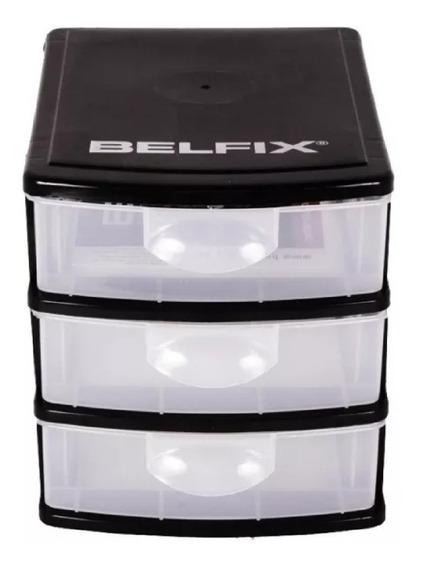 Caixa Organizadora 3 Gavetas Plástico Modular - Belfix