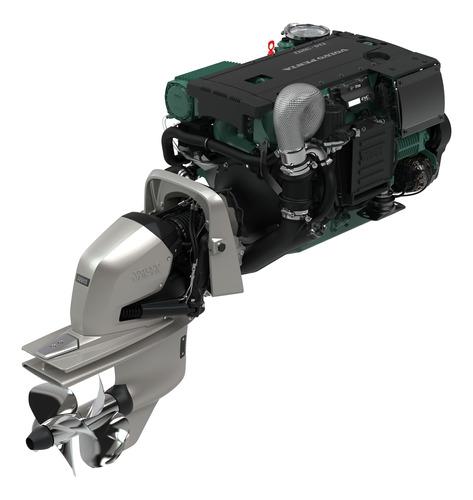 Motor Diesel Lancha Ou Barco Volvo Penta D4 270hp Com Rabeta