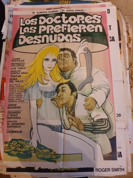 3 Antiguos Afiches De Cine Originales-lote De 3-Oferta 62