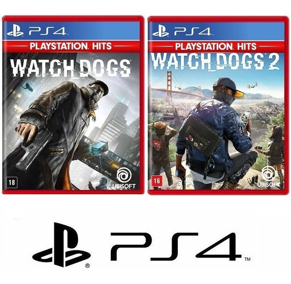 Watch Dogs 1 E 2 - Dublado Midia Fisica Original Lacrado Ps4