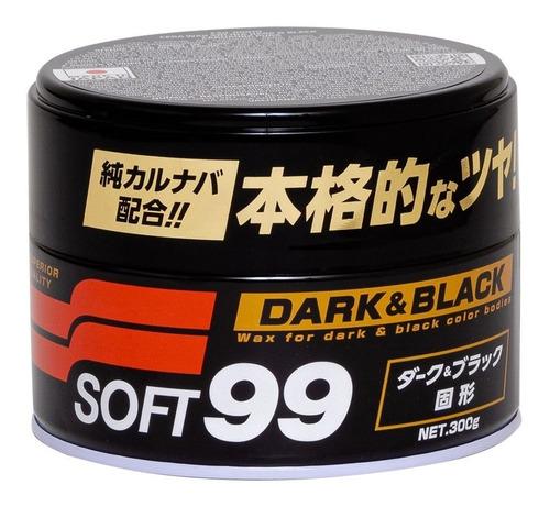Imagen 1 de 3 de Cera Carnaúba Black & Dark Soft99 Made In Japan 300gr