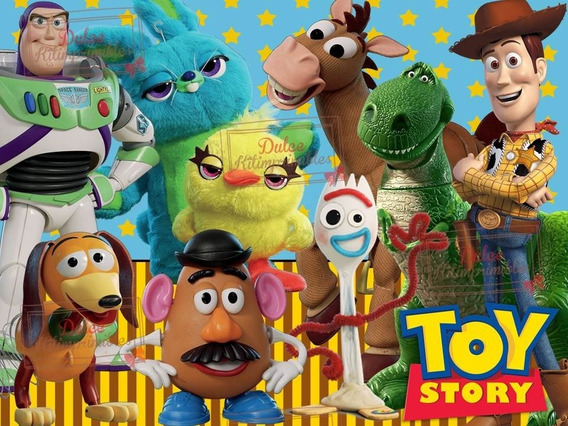 Kit Imprimible Toy Story 4 Candy Bar Cotillon Cumple 2019