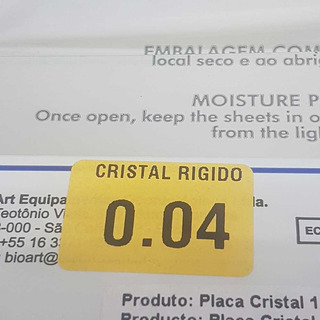 Placa Rigida Para Termoformadora 1mm (0,04) X5u Bioart