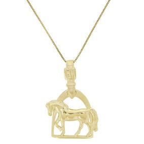 Colar Espora Country Com Pingente Cavalo E Estribo 20957