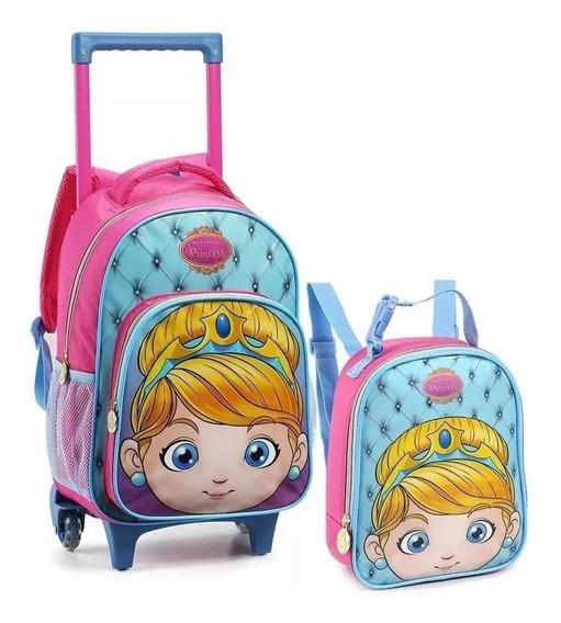Kit Infantil Mochila Rodinha M +lanch Princesa 14484 Seanite
