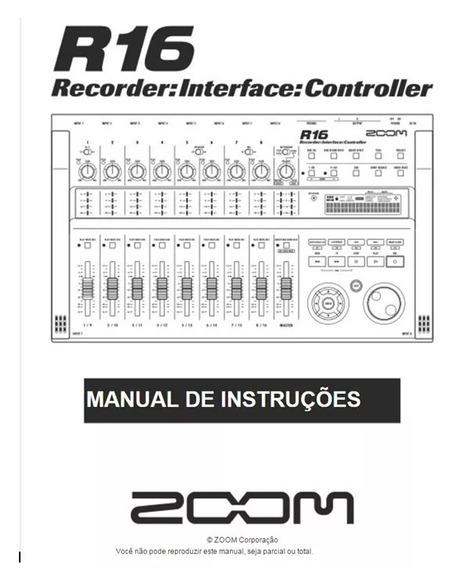 Manual Zoom R16, R24 Ou R8 Em Português Original.