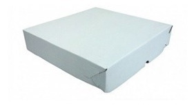 25- Caixa / Embalagem Salgados E Doces Branca Nº3 26x26x5 Cm