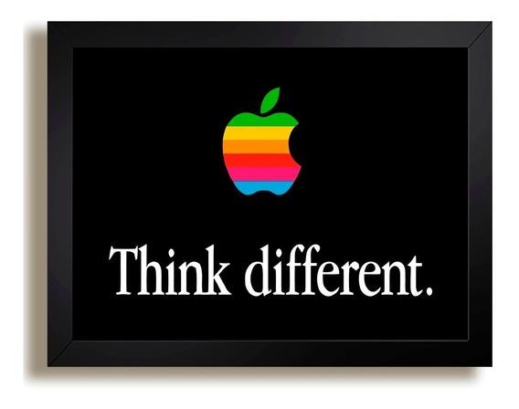 Quadro Steve Jobs Apple Think Different Tecnologia Dg3 Decor