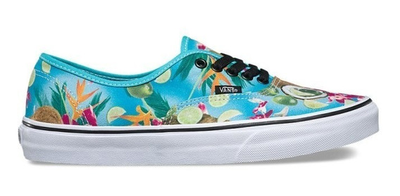 Zapatilla Vans Authentic Mujer Lime In The Coconut Celeste