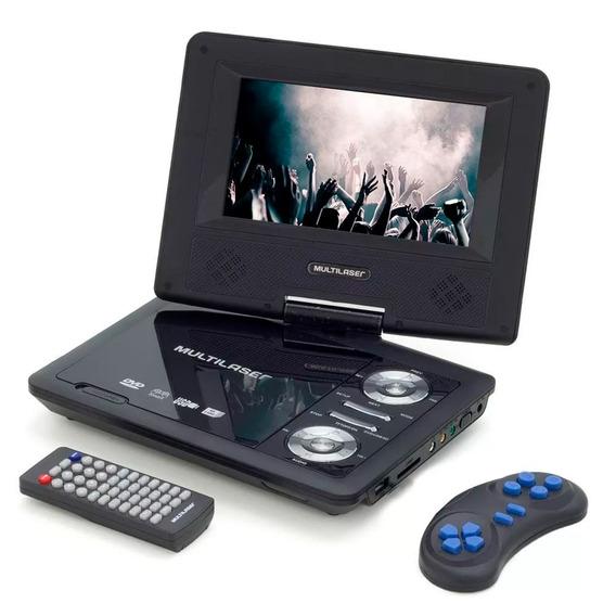 Dvd Player Portátil Multilaser Au710 Tela 7 Usb E Cartão Sd.
