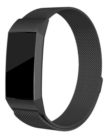 Pulseira De Aço Milanese Para Fitbit Charge 3