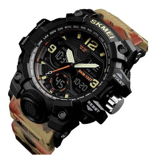 Relógio Masculino Pulseira Camuflada Militar Skmei Original