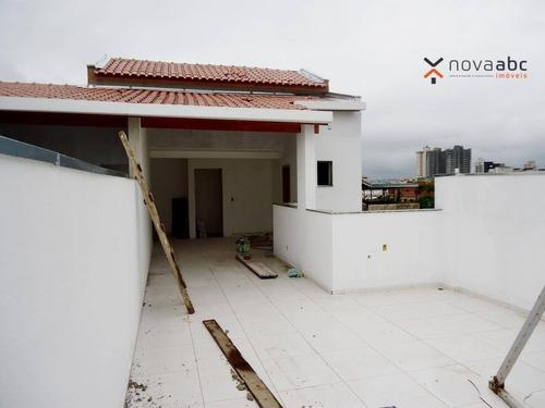 Cobertura Com 2 Dormitórios À Venda, 54 M² Por R$ 390.000 - Vila Marina - Santo André/sp - Co1022