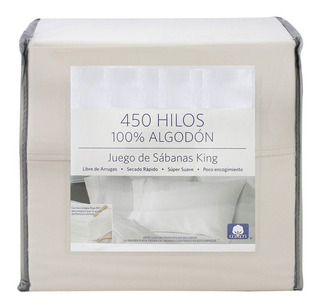 Juego De Sabanas Tamaño King 450 Hilos 100% Algodon Beige