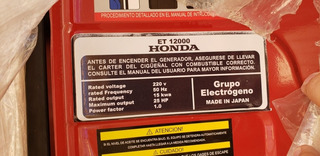Generador Honda Con Trifásica