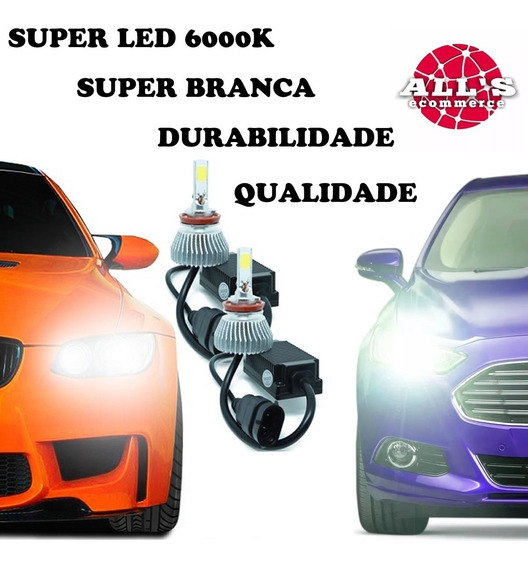 2 Kit Super Led Milha Alto Baixo Hb20 H8 H4 6000k