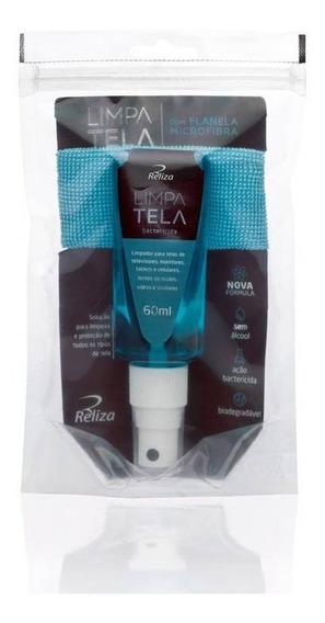Limpa Tela Antibactéria 60ml + Flanela