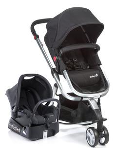 Carrinho De Bebê Travel System Mobi Black Silver Safety 1st