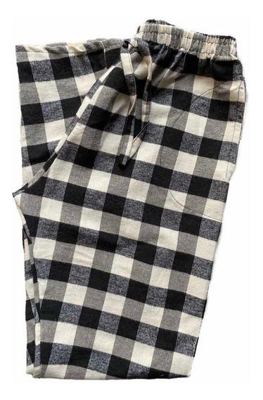 Pijama Pantalón Mujer A Cuadros Talle 1-4
