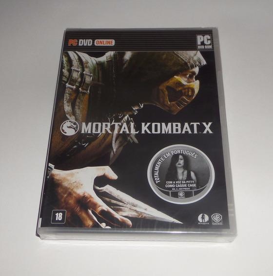 Mortal Kombat X Mk Original Lacrado Mídia Física Pc
