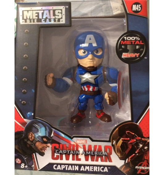 Metal Die Cast Capitan America Civil War Orig