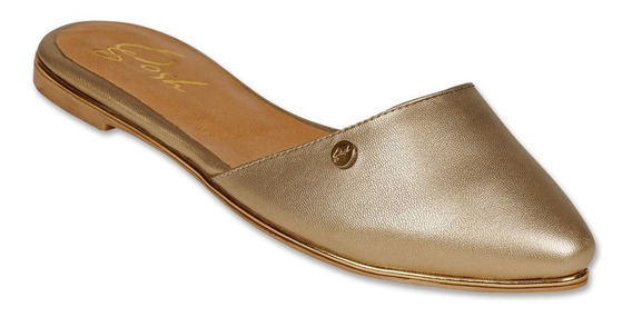 Calzado Dama Mujer Zapato Flat Moda Casual Gosh Oro Cómodo