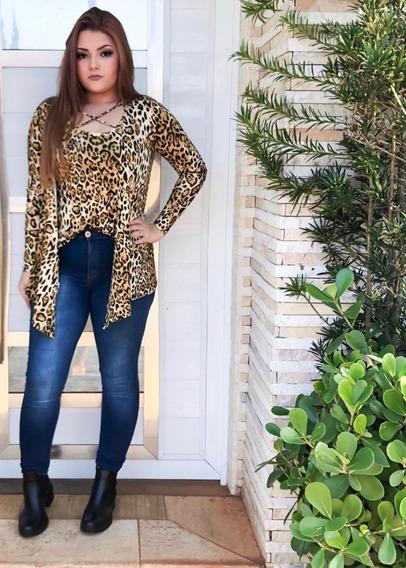 Conjunto Inverno Frio Cardigan Femininos Blusa Moda 2019